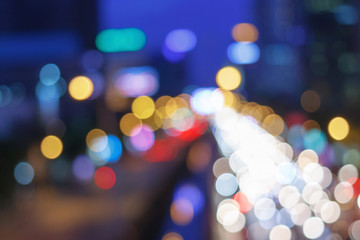 Bokeh And Bright Color / Abstract Colorful Defocused Blurred Bokeh Light Background.