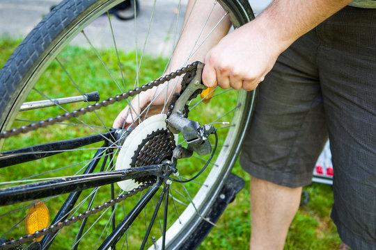 Fahrrad Reparatur Reifen wechseln