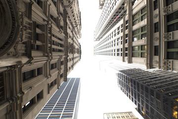 Grattacieli di New York City visti dal basso