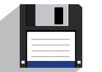 Flat floppy disk icon