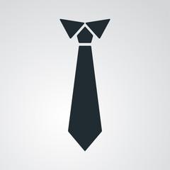 Icono plano corbata en fondo degradado