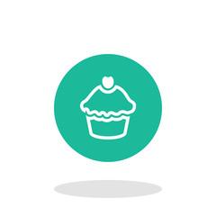 Vector illustration of cupcake icon