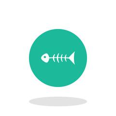 Vector illustration of fish skeleton icon