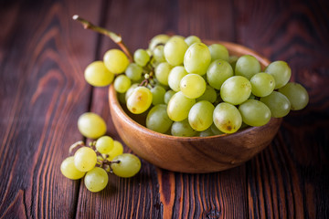 Bunch of green ripe grapes