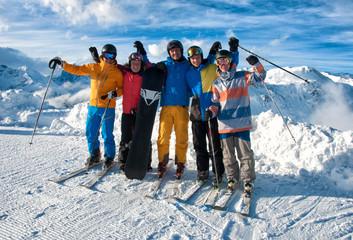 Skifahrergruppe