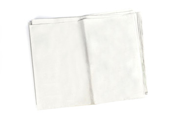 Blank newspaper with copyspace to add your content on white background.