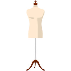 man mannequine dummy tailor isolated vector illustration