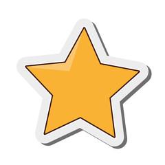 flat design cartoon star icon vector illustration