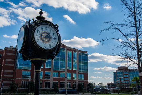 Lexington South Carolina Main Street Town Clock Buildings Center