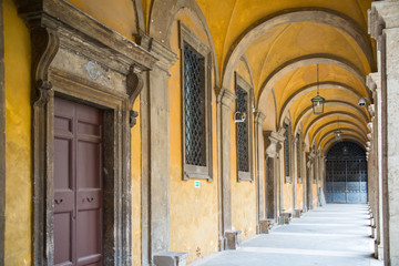 Inner yard galleries of Rome's government buildings