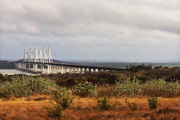Bridge across river, Orinoquia Bridge, Orinoco River