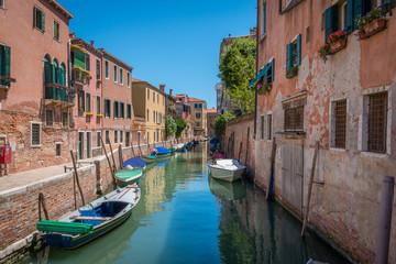 Venise Canal Rio del Trapolin barques