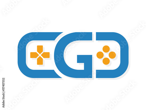 game controller logo template stock image and royalty free vector