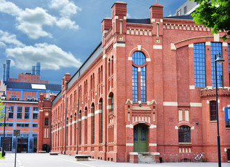 old buildings of CHP in Lodz after revitalization