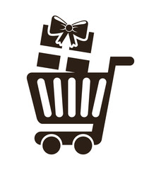 cart shopping commerce isolated icon