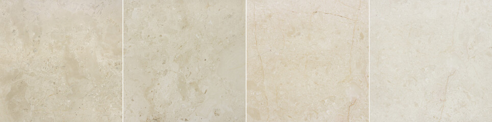 Four images of marble background with natural pattern.
