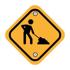 rhombus security yellow sign