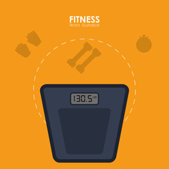 Healthy lifestyle and Fitness concept represented by scale icon. Colorfull and flat illustration.