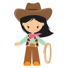 Cowgirl vector illustration