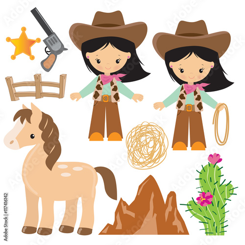 quotcowgirl vector illustration quot stock image and royalty