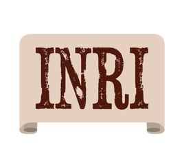 inri label jesus paper icon