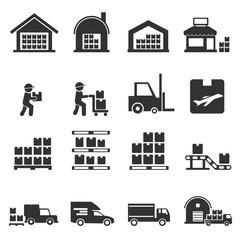 warehouse icon vector