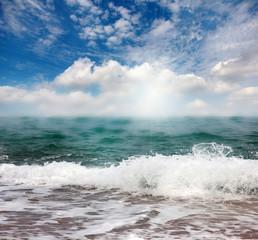 sea surface and blue sunny sky
