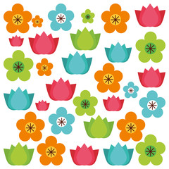 floral pattern decoration icon
