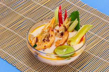 Tom yam kung soup from Thailand