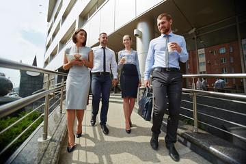Business team outdoors