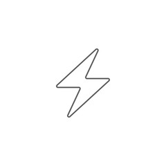Vector illustration of lightning icon