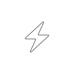 Vector illustration of lightning icon