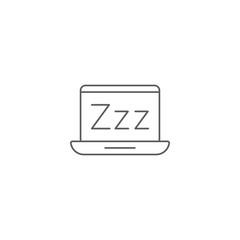Vector illustration of sleep mode icon