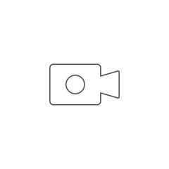 Vector illustration of video camera icon
