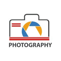 Design logo photography icon vector