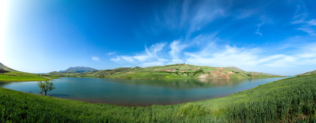 Lake in the Kurdistan, Iran, Panorama