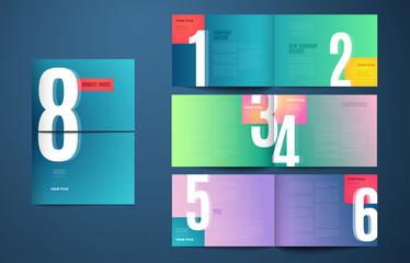 Vector catalog template modern design