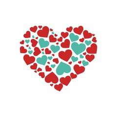 Love logo heart symbol vector
