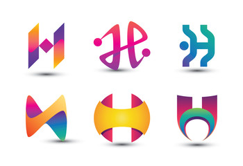 Search photos logo h abstract colorful h logo set of letter h logo thecheapjerseys Choice Image