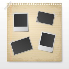 Blank photography frames