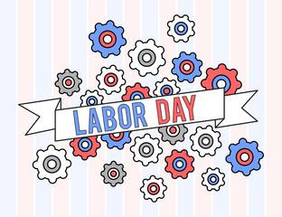 USA labor day graphic design