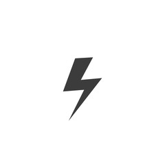 Lightning icon. Lightning Vector isolated on white background. Flat vector illustration in black. EPS 10