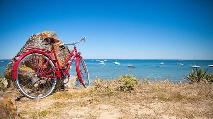 Plage de Noirmoutier et ses vélos Wall mural