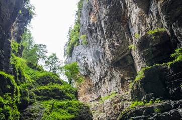 Rocks in the ravine Breitachklamm (Oberstdorf, Germany)