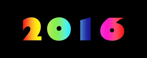 2016 Rainbow Colours On Black