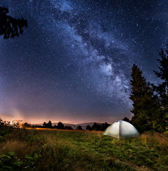 Milky way and tent