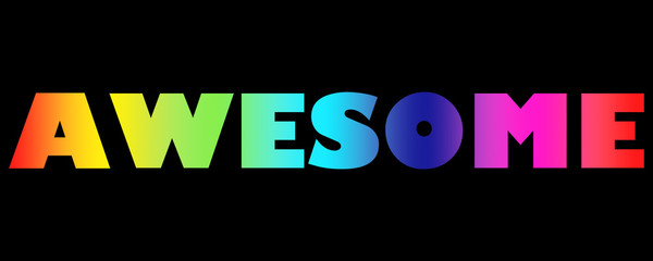 Word Awesome with colorful letters