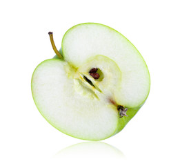 slice green apple