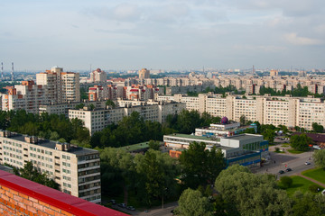 Saint Petersburg, view from the roof. Russia