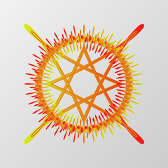 Abstract pentagram element vector. Mystical circle for conjuring demons.